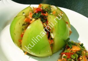 фаршированные зеленые помидоры рецепт с фото