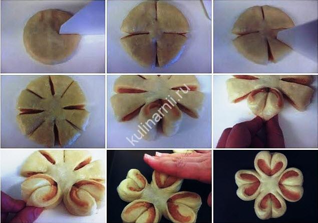 Красивые булочки рецепт пошагово