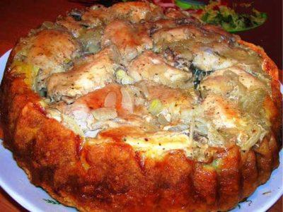 Курица на тарелке рецепт
