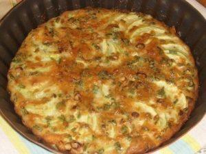 Запеканка из кабачков с зеленым луком
