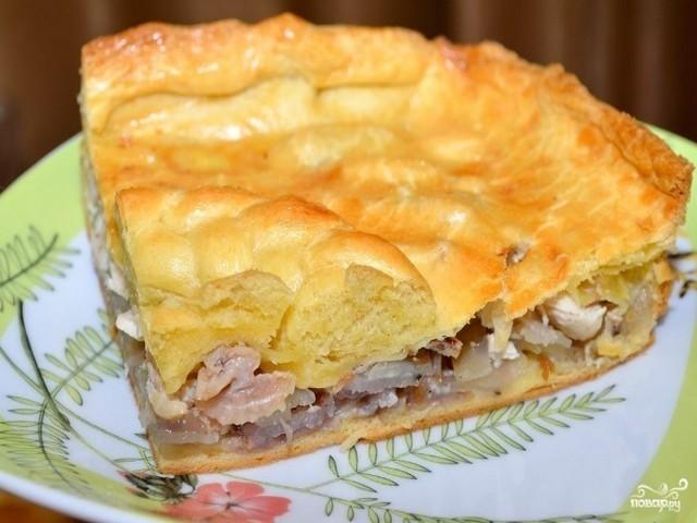 Пирог из слоеного теста с яблоками рецепт с фото пошагово