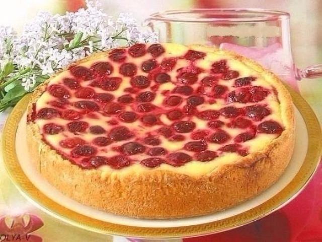 Пирог с ягодами и творогом рецепт с пошагово