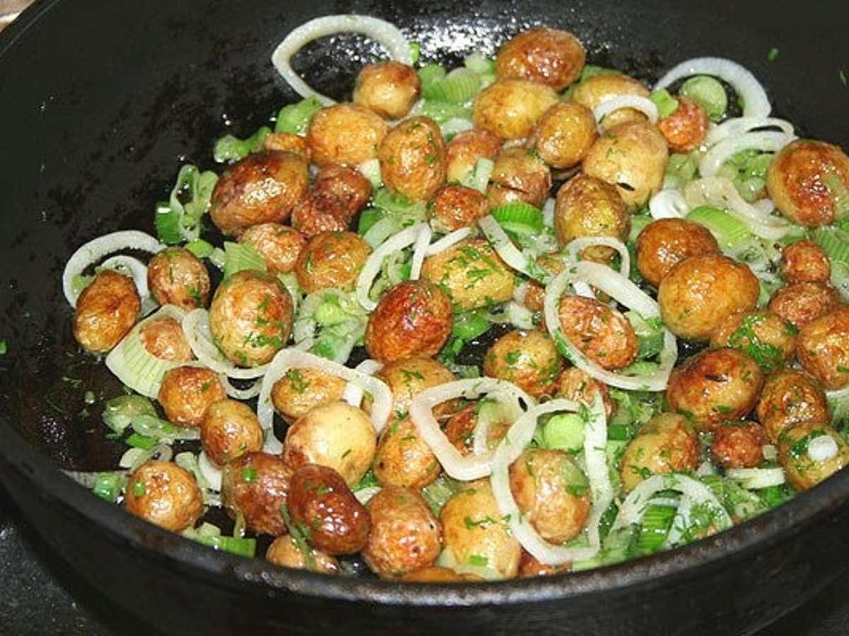 Блюда из шампиньонов и картошки