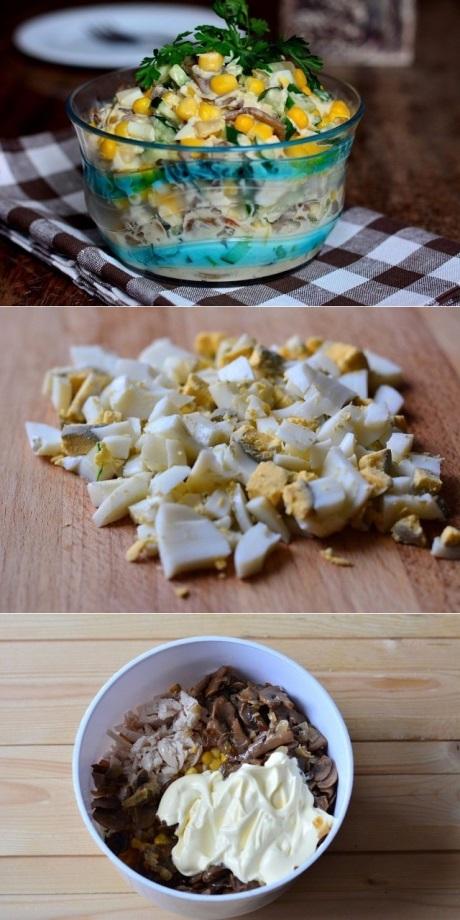 Салат «Зодиак»  Вкусный салатик на Новый год!