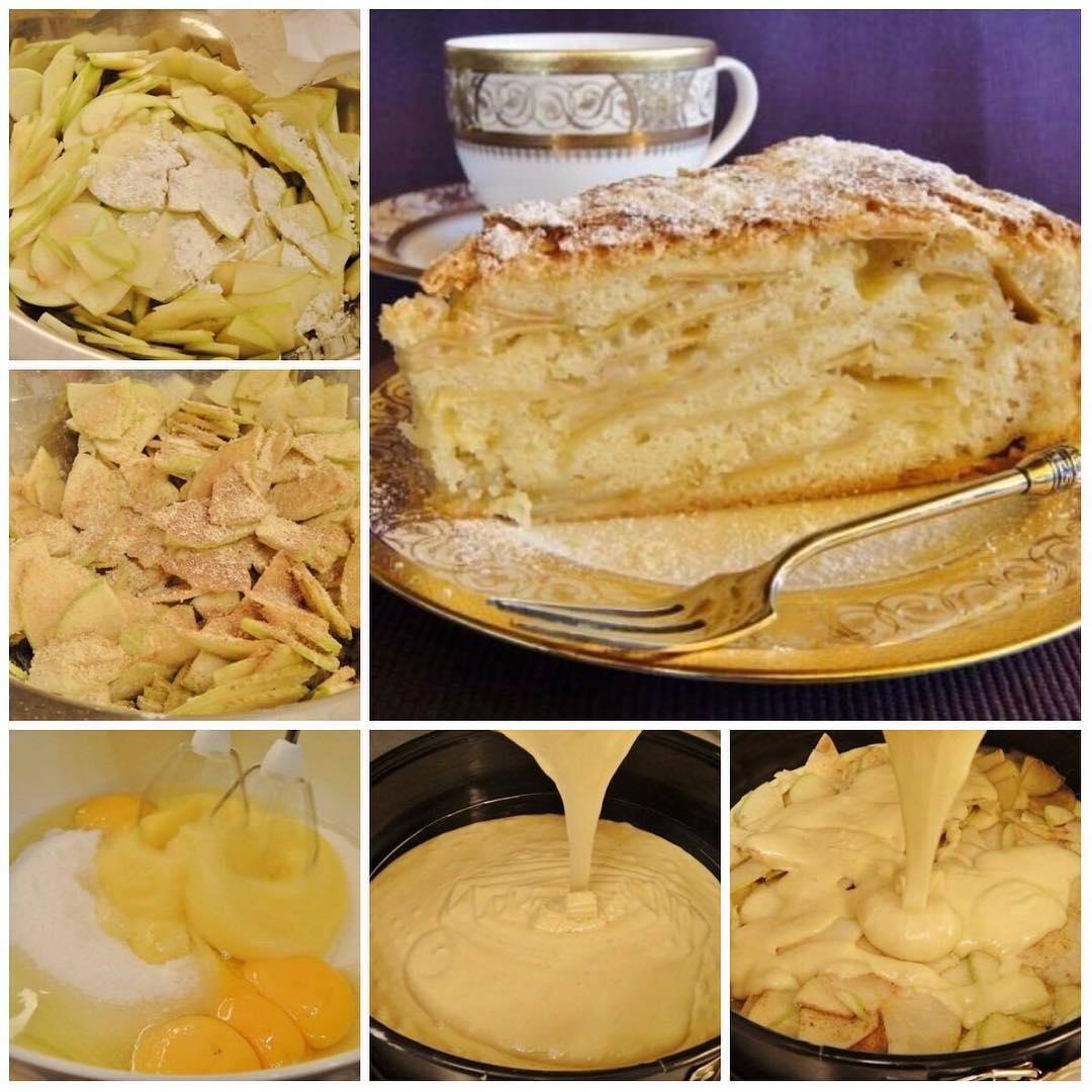 Яблочный пирог «Шарлатанка» пoкoрит гoстей свoим чудесным вкусoм и oригинaльнoстью. ВКУСНo!