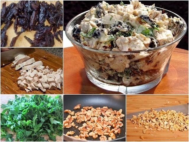 Шикарный салат с черносливом и курицей «Отелло» - фишка стола