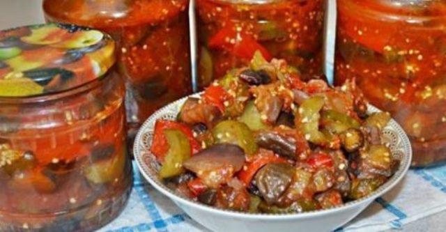 Коронный рецепт салата из огурцов и баклажанов на зиму!