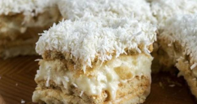 Торт «Рафаэлло» без выпечки