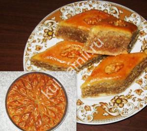 домашняя пахлава рецепт с фото