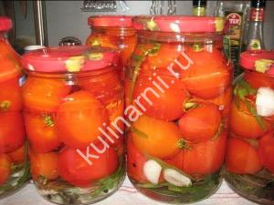 маринованные помидоры сладко острые фото