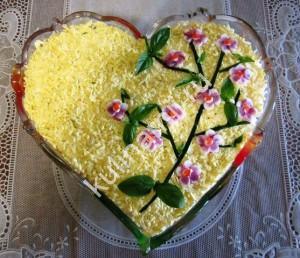 Салат Веточка сакуры рецепт