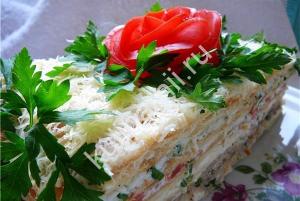 Закусочный торт рецепт