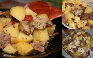 Мясо с картофелем в рукаве фото