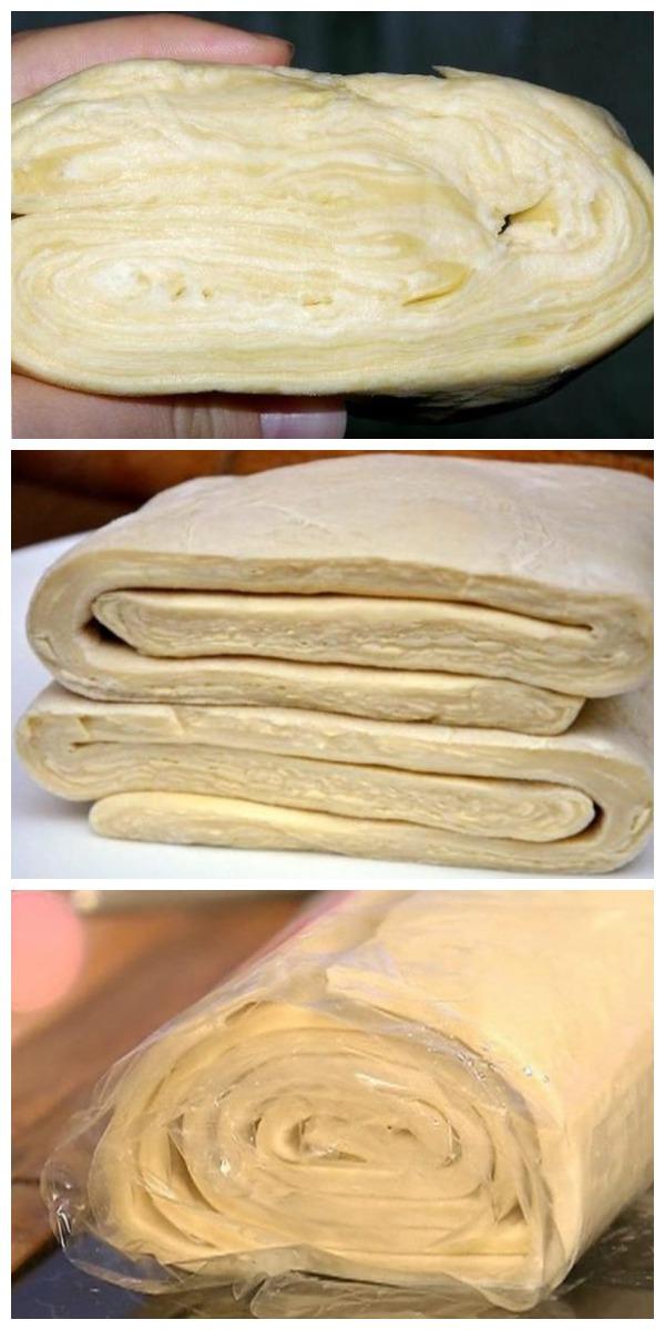 Слоеное тесто за 10 минут! Это чудесное тесто, просто палочка выручалочка.