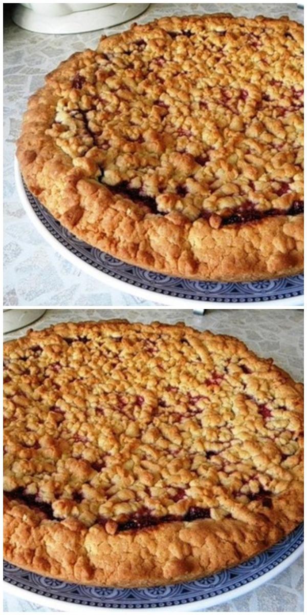 """Вкуснейший """"Кудрявый пирог"""" с вареньем — ешь, хоть каждый день"""