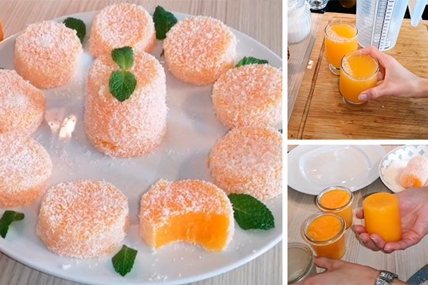 Мандариновый лукум — необычный рецепт домашнего десерта