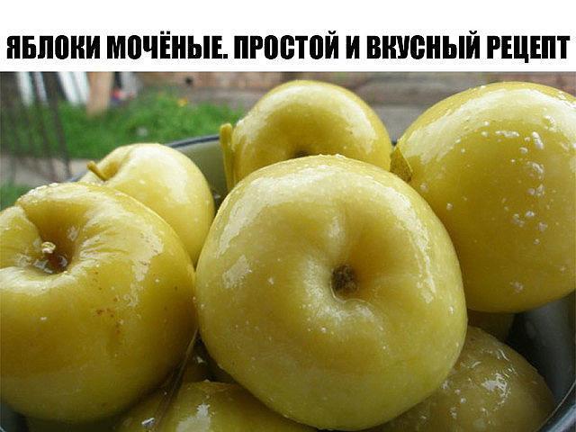 Яблоки мочёные. Простой и вкусный рецепт