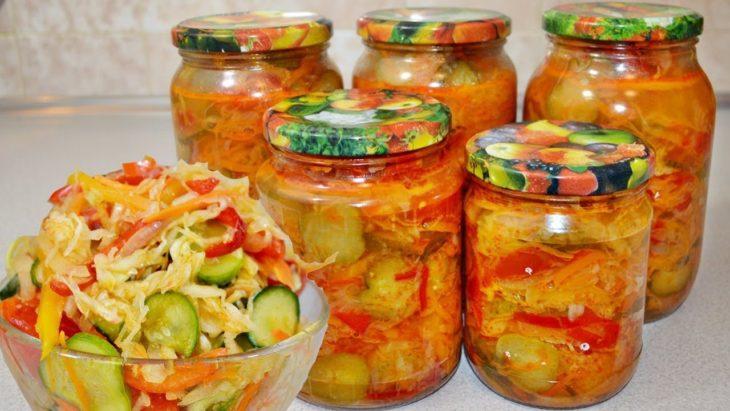 Улетный салат на зиму «Кубанский» с капустой и огурцами – полюбите его сразу!